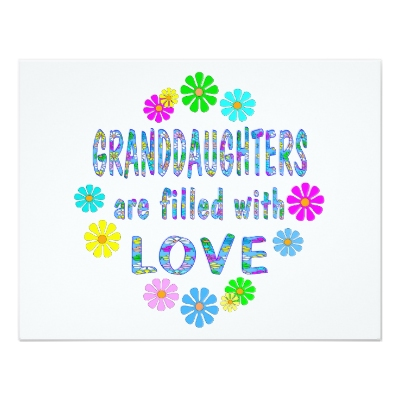 Granddaughters are filled with love