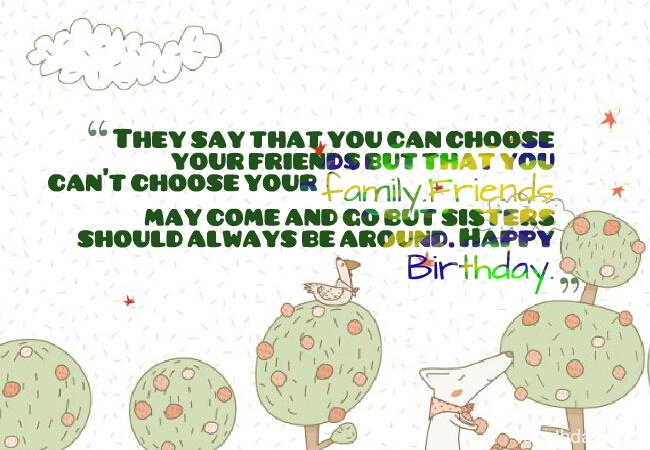Great Quotes On Sister Birthday Wishes Image