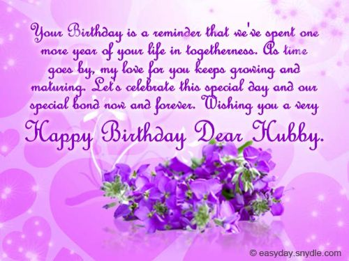 Happy Birthday Dear Hubby Wishes Message Image