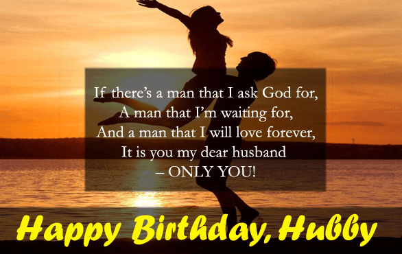Happy Birthday Dear Husband Wishes Image