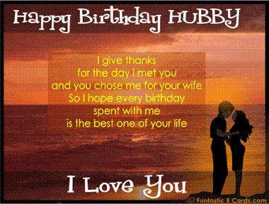 Happy Birthday Hubby I Love You Wishes Image