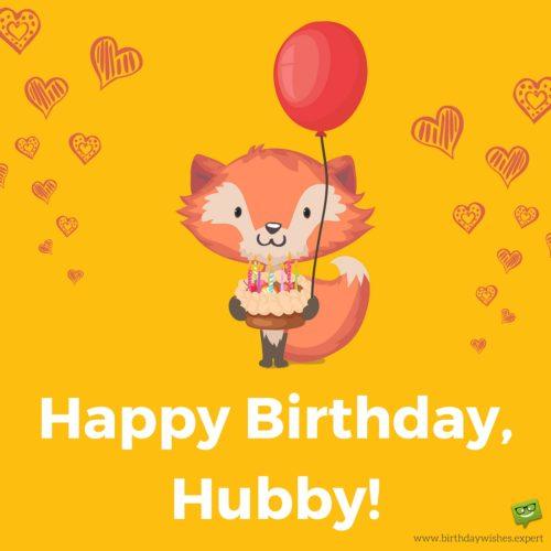 Happy Birthday Hubby Wishes Image