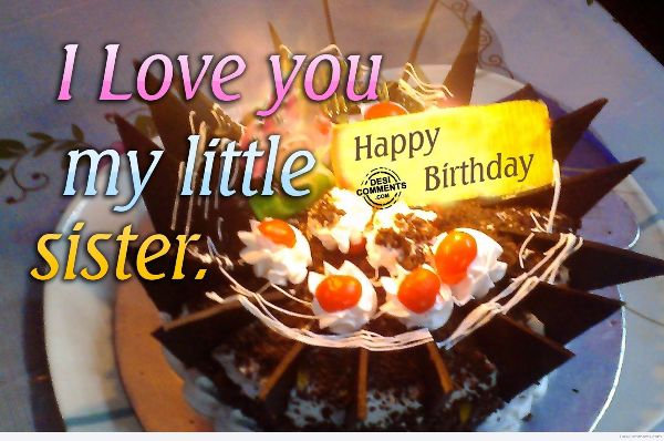 Happy Birthday Little Sister Wishes Image