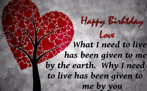 Happy Birthday Love Wishes Image