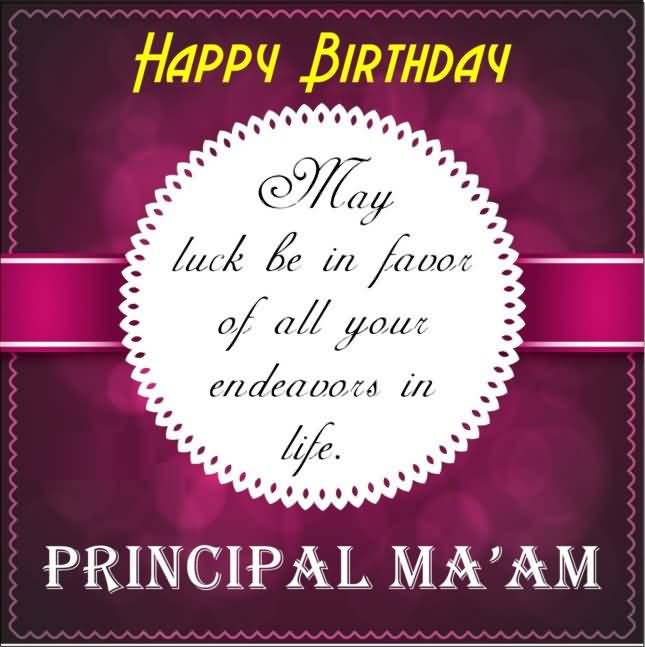 Happy Birthday Principal Ma'am Greeting Message Image