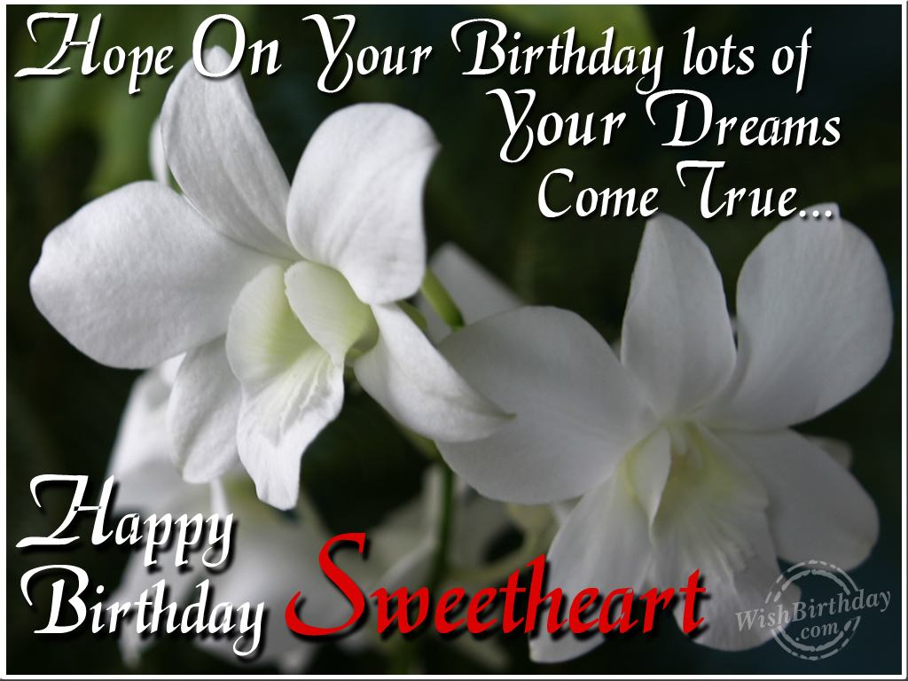 37 sweetheart birthday wishes greetings for all the husband happy birthday sweetheart greeting quotes image kristyandbryce Image collections