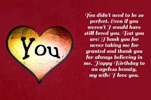 Happy Birthday To An Angle Beauty My Wife I Love You Greeting