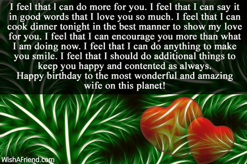 Happy Birthday To The Most Wonderful And Amazing Wife Quotes Image