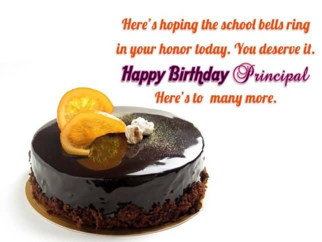 Happy Birthday Principal Here To Many More Delicious Cake Image Greetings