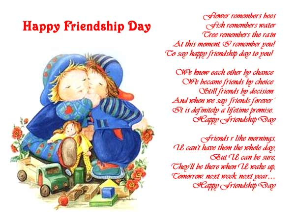 Happy Friendship Day Poem Greetings Picture