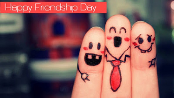 Happy Friendship Day Wishes Finger Art Image