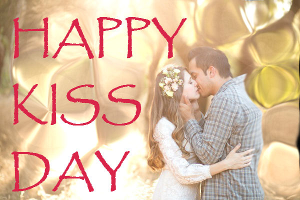 Happy Kiss Day Greeting Picture For Lover