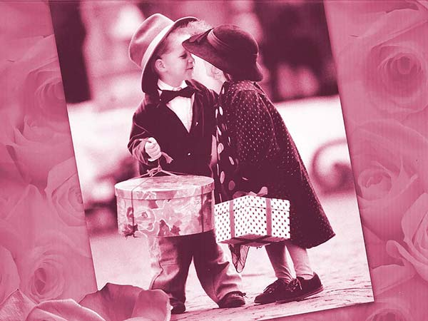 Happy Kiss Greeting Card Image