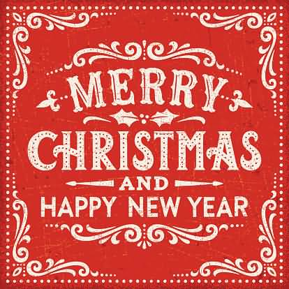 Happy New Year And Merry Christmas Message Image