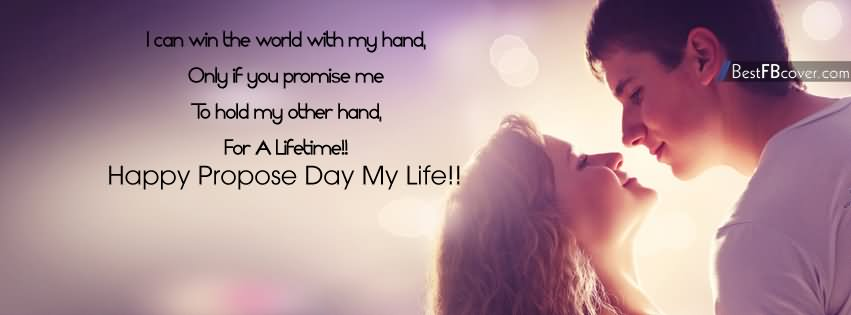 Happy Propose Day My Live Facebook Image