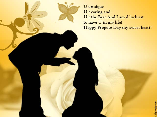 Happy Propose Day My Sweetheart Greetings Quotes Image