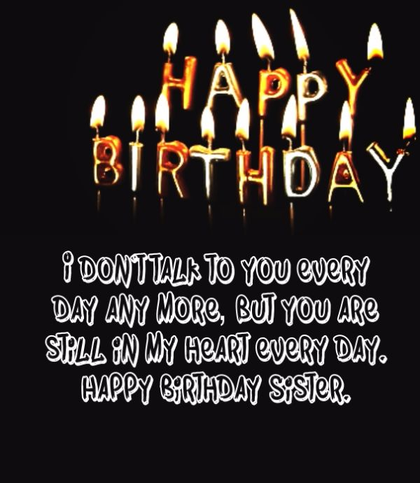 Happy Birthday Sister Wishes Message Image