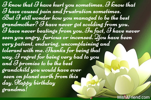 Have Hurt You Sometime Happy Birthday Grandma Long Message