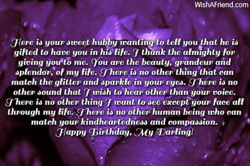 Have You In His Life Happy Birthday My Darling Wishes Image