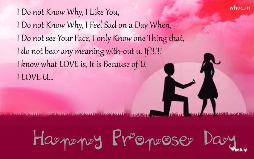 I Know What Love Is I Love You Happy Propose Day Greetings Image