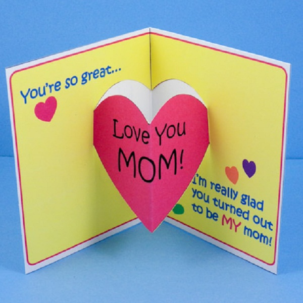 I Love You Mom Happy Mothers Day Greetings Card Idea