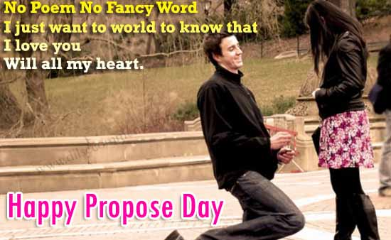 I Love You Will All My Heart Happy Propose Day Greetings Image
