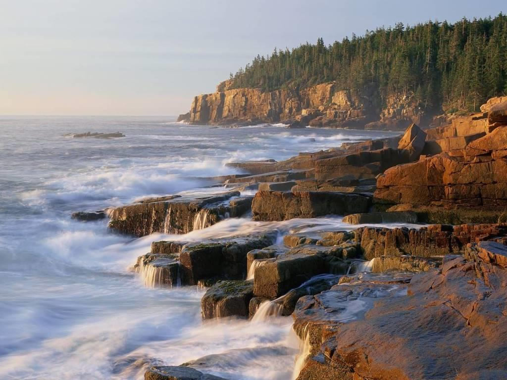 Incredible Other Cliff Acadia National Park Maine 4K Wallpaper