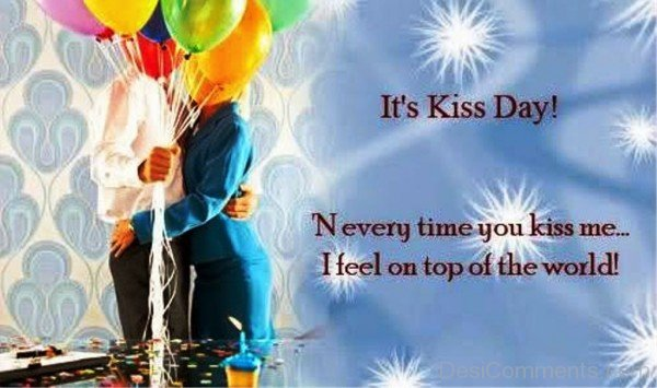 It's Kiss Day Quotes Image