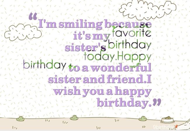 It's My Favorite Sister's Birthday Happy Birthday
