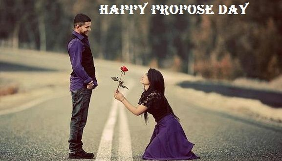 Lovely Propose By Girl Happy Propose Day Image