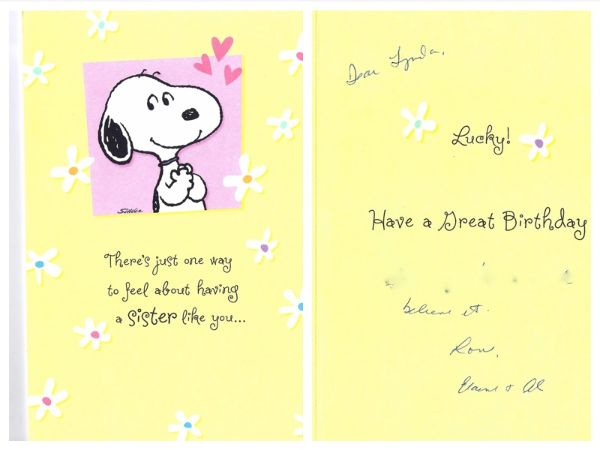 Lovely Sister Birthday Wishes Card Image