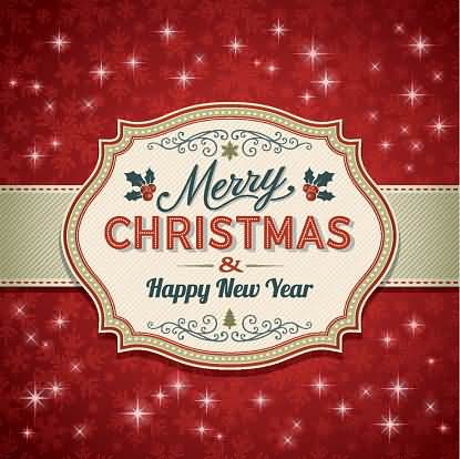 Merry Christmas Happy New Year Image