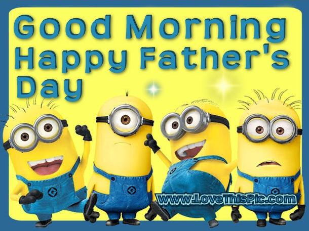 Minion Wishes Happy Father's Day Image