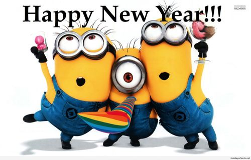 Minion Wishes Happy New Year 2016
