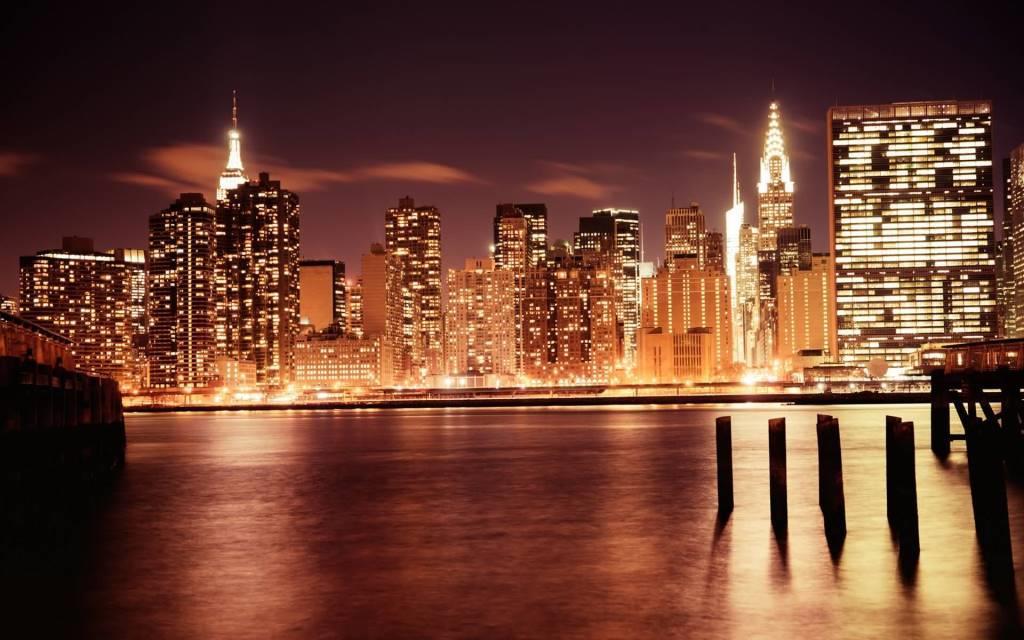 Most Beautiful Manhattan At Night Full HD Wallpaper