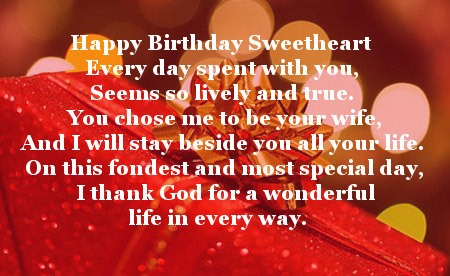 Most Special Day Happy Birthday Sweetheart