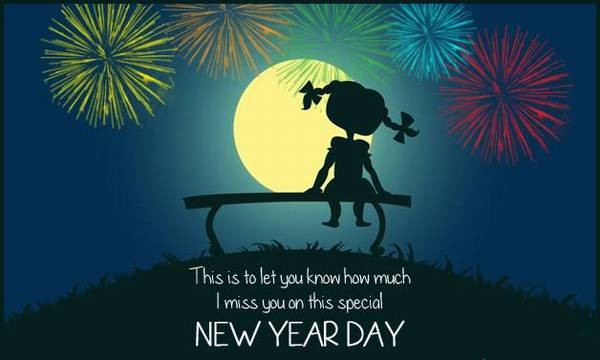 New Year Day Miss You Message Greetings Image