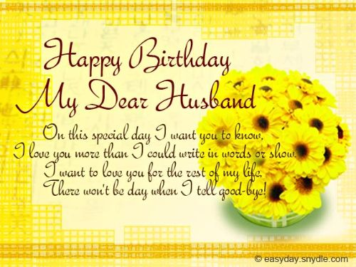 On This Special Day Happy Birthday My Dear Husband Wishes Image