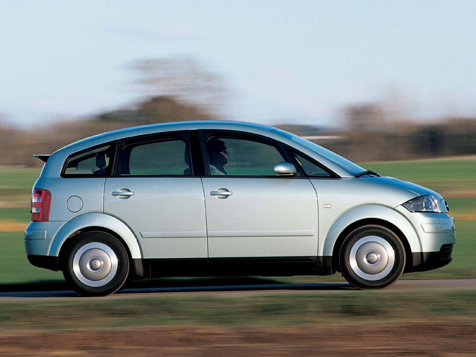 Right side view of beautful silver Audi A2 Car