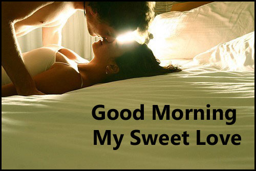 Romantic Good Morning Kiss To Love Image