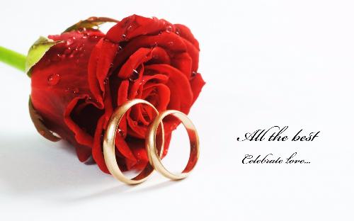 Romantic Wedding Greeting Picture