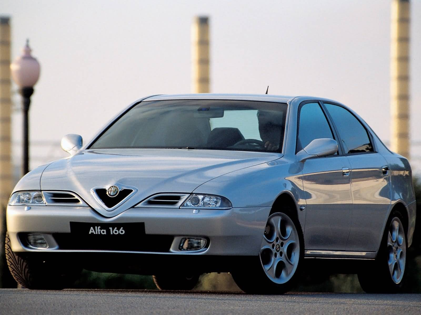 Silver colour Alfa Romeo 166 Car for wallpaper