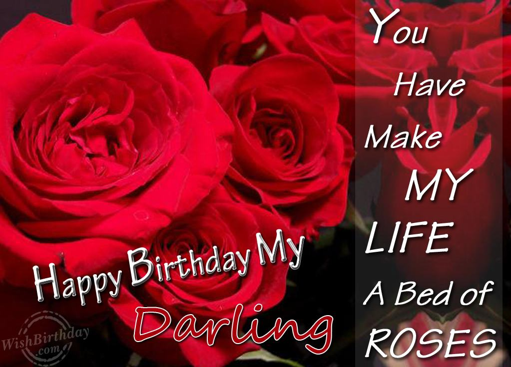 Special Greetings Message Happy Birthday Darling