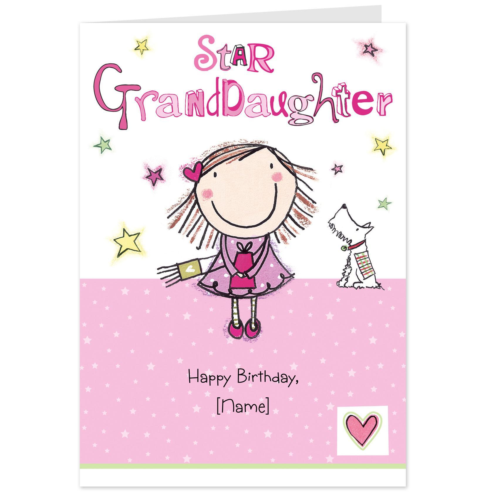 Star Granddaughter Happy Birthday  Picsmine