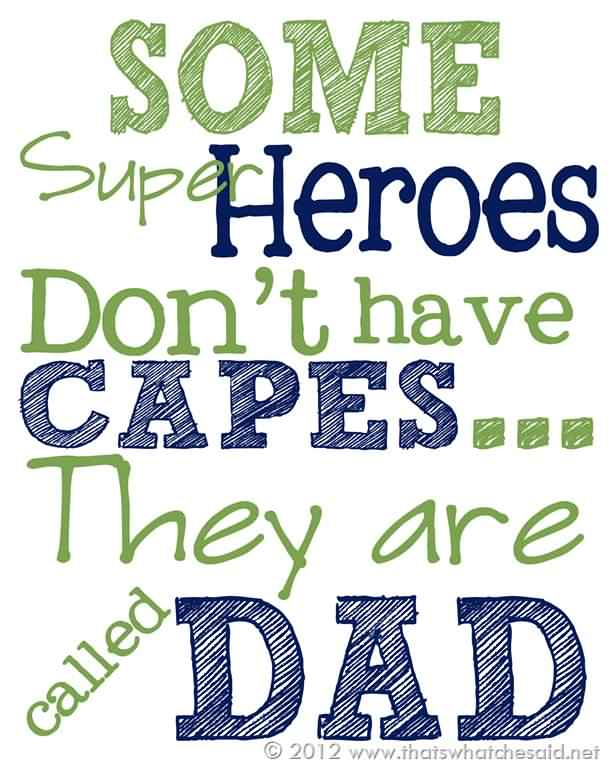 Super Hero Happy Father's Day Wishes Image