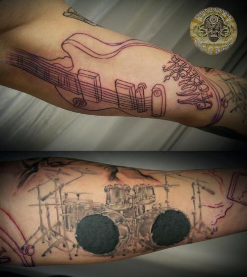 Rock Band Tattoo 042