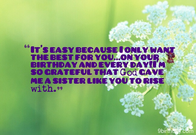 The Best For You On Your Birthday Happy Birthday Sister Message