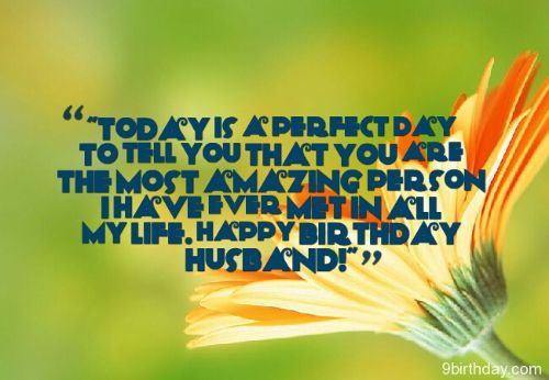 The Most Amazing Person Happy Birthday Husband Wishes Message