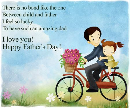 There Is No Bond Like The One I Love You Happy Father's Day Wishes Image