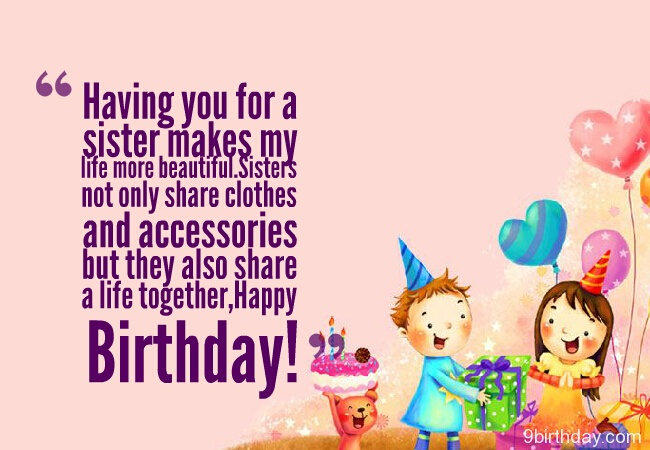 41 wonderful sister birthday wishes will show your love picsmine to my beautiful sister happy birthday greetings image m4hsunfo